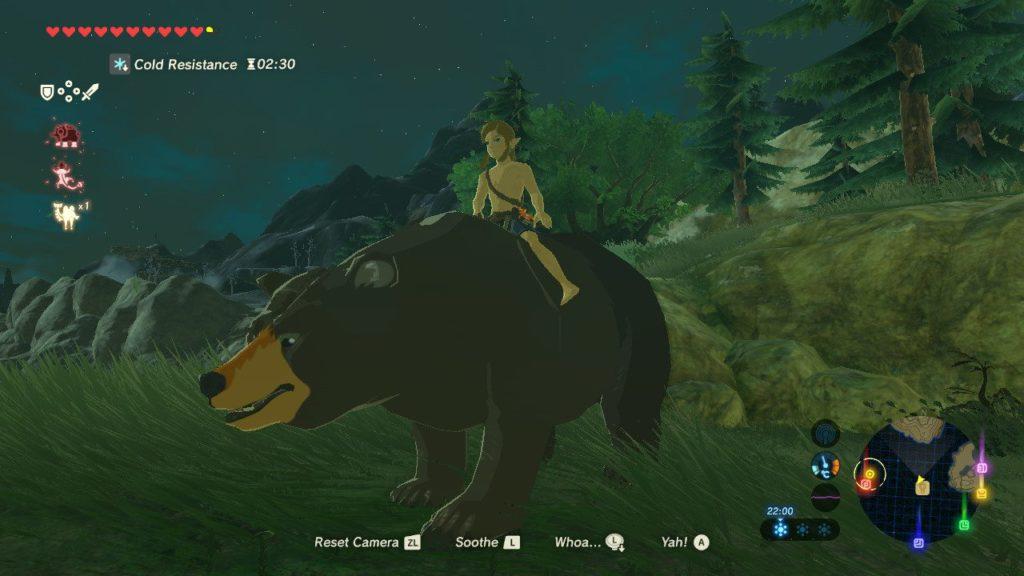 Zelda - Link jak Putin na niedźwiedziu.