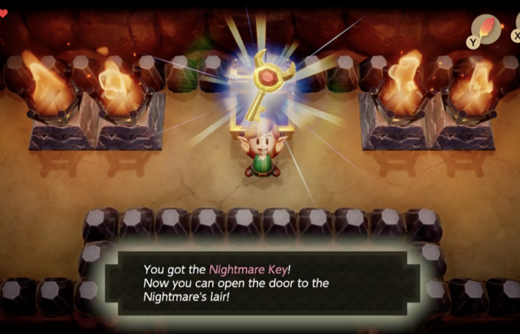 Link's Awakening Solucja Nightmare key