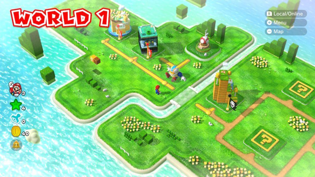 Super Mario 3D World Mapa