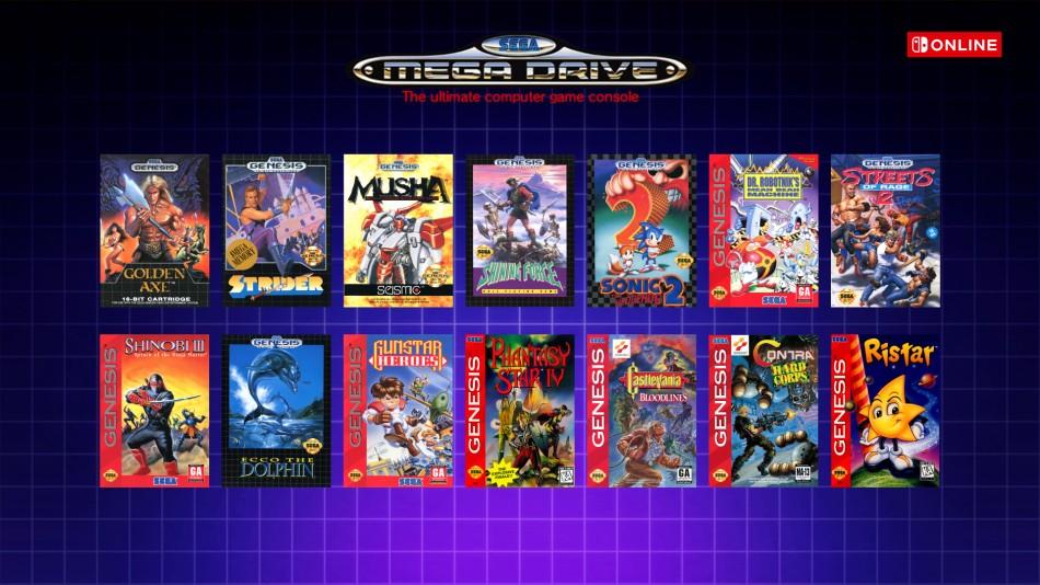 Gry z Sega Megadrive na Nintendo Switch